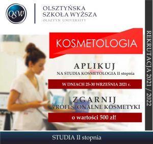 KOSMETOLOGIA STUDIA II STOPNIA